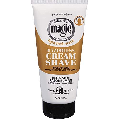 Magic Shave Razorless Cream Shave, Bald Head Smooth Head Maintenance, Light...