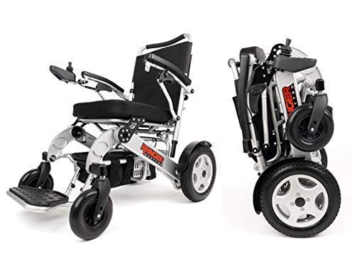 Porto Mobility Ranger Quattro XL Heavy Duty Ultra Exclusive Lightweight Foldable Electric Wheelchair, Weatherproof, Stronger, Longer Range Super Horse Power Dual Motorized All Terrain (XL)