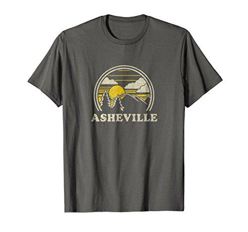 Asheville North Carolina NC T Shirt Vintage Hiking Mountains