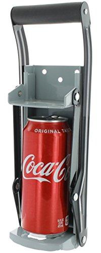 Vanitek 16 oz Aluminum Can Crusher & Bottle Opener | Heavy Duty Large Metal Wall Mounted Soda Beer Smasher - Eco-Friendly Recycling Tool