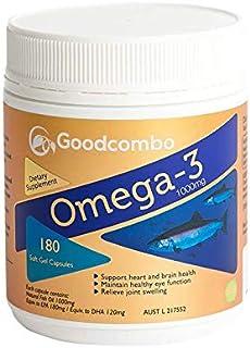 Goodcombo Omega 3 Fish Oil 1000mg 180s, 300 grams