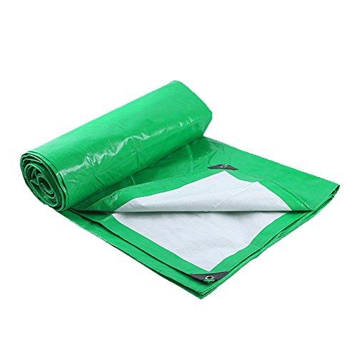 ZEMIN Bâche Protection Couverture Transparente Imperméable Crème Solaire Tente Drap Toit Polyester, Vert, 180G/ M², 18 Tailles (Color : Green, Size : 8X10M)