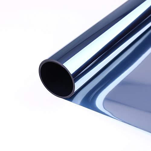 VPCOK Spiegelfolie selbstklebend Sonnenschutzfolie Fensterfolie Sichtschutzfolie Fenster Verdunkelungsfolie, 44.5 * 200cm(MEHRWEG)