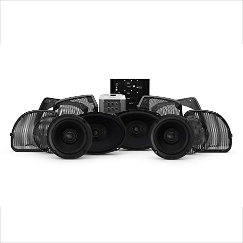 Rockford Fosgate HD14RGSG-STAGE3 Four Speakers & Amplifier Kit for 2014+ Harley-Davidson Road Glide & Street Glide