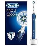 Braun Oral-B Pro2 - 2000 - Brosse à Dents Électrique Rechargeable, 1Manche avec Capteur de Pression Visible, 1Brossette