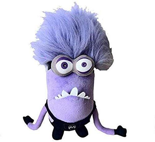 APcjerp Cojín despreciable Me Juguetes de Peluche púrpura Minions muñeca rellena Suave for el bebé for niños 30cm Doble Ojos Minions