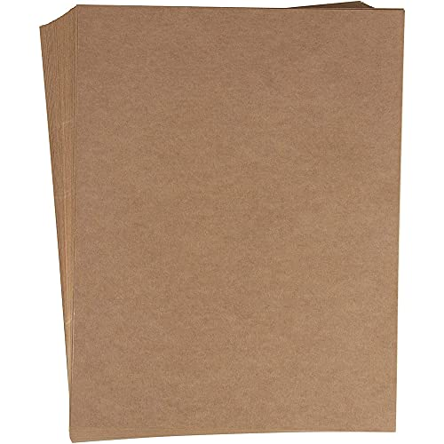 Kraft Sticker Paper, Full Sheet Printable Brown Labels (8.5x11 in, 48 Pack)