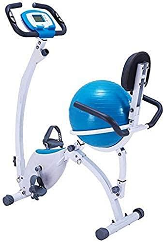 NBLD Oficina Fitness Plegable Control magnético Giratorio Prismático Spinning Bicicleta - Yoga Ball Cushion Bicicletas de Ejercicio