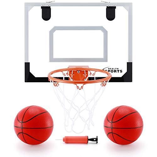 KeepRunning Indoor Mini Basketball Hoop Set for Kids 16' x 12' Basketball Hoop for Door & Wall Mobile Basketball Hoop Bedroom Basement Office Basketball Hoop Indoor Sports Toys
