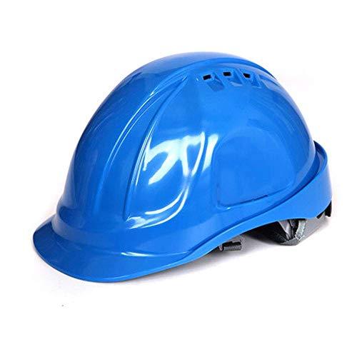 Preisvergleich Produktbild Schutzhelm,  Baustelle Personalverantwortung Kappe ABS Gürtel BAU Helm Sicherheit Arbeitsversicherung Harten Helm (Color : Blau)
