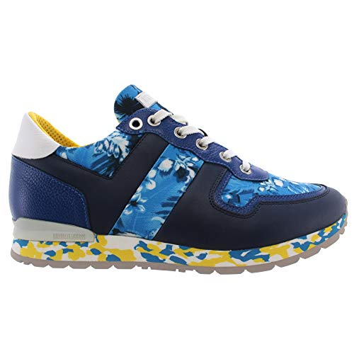 Zapatos Hombres Sneakers BIKKEMBERGS BKE107905 Mant 338 LShoe M Blue Camouflage