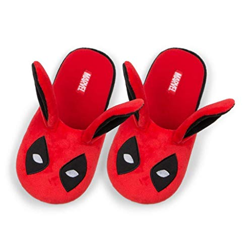 Deadpool Bunny Ears Men's Slippers 7/8
