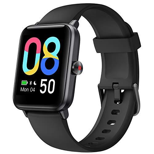 Lintelek Smartwatch 1.55 Zoll HD Touch Farbdisplay mit Dynamischem Hintergrund Fitness Tracker mit Pulsuhr Blutsauerstoff Schlafmonitor Smart Watch 5ATM Wasserdicht mit Schrittzähler für Damen Herren