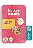 Better Nature Alternativa vegana para el tocino hecha de tempeh de soja 100% BIO - 6x paquetes de 120g de deliciosas alternativas vegetales para la carne llenas de muchas proteínas y fibra