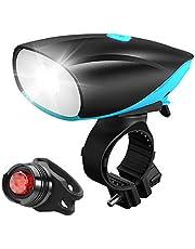 自転車ライト USB充電式 LEDヘッドライト サイクリング 『電動ベール + テールライト付き』 自転車ヘッドライト ホルダー 高輝度 防水IPX5 スポーツ・アウトドア 防水 防災 前照灯 非常灯兼用