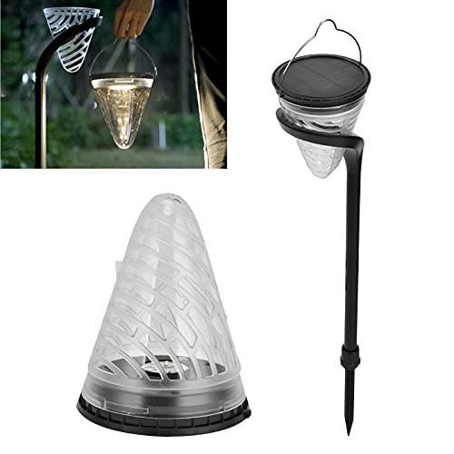 Pinsofy Luz Solar para césped, Dos métodos de instalación Lámpara LED Solar para césped Iluminación de Paisaje para Lugares escénicos Parques para Patios Céspedes, Villas, senderos