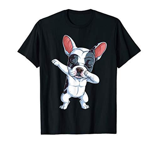 Dabbing French Bulldog Kids Boys Dog Lover Dab Funny Gift T-Shirt