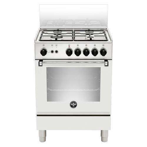 Bertazzoni La Germania Americana AMN654GBV - Cocina (Cocina independiente, Blanco, Botones, Giratorio, Negro, Frente, Encimera de gas)