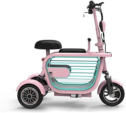 eléctrico Mobility Scooter 3 Scooter eléctrico con Ruedas Plegable, Bicicleta eléctrica-34km / h, fácil diseño de Pliegue y Transporte, Adulto Ultraligero