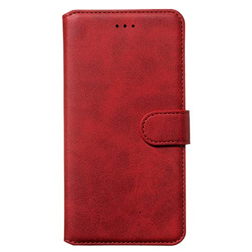 Tosim iPhone 6S Plus/6 Plus Hülle Klappbar Leder, Brieftasche Handyhülle Klapphülle mit Kartenhalter Stossfest Lederhülle für Apple iPhone 6SPlus/6Plus - TOYYO080014 Rot