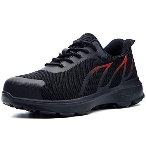 Zapatos de seguridad Entrenadores de seguridad Hombres Mujeres Steería TOE CAP TRABAJO Zapatos de trabajo Resistentes a los resbalones Sneakers industriales botas de trabajo ( Color : B , Size : 43 )