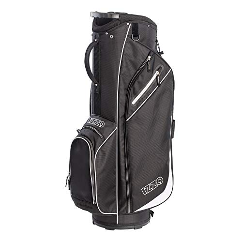 Izzo Golf Ultra-Lite Cart Golf Bag with Single Strap & Exclusive Features, Black