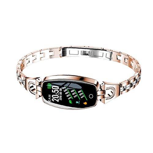 Presión inteligente venda de reloj del reloj del perseguidor H8 pulsera inteligente inteligente a prueba de agua Reloj del ritmo cardíaco de sangre rastreador de ejercicios para el oro de las mujeres