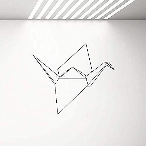 Geometría Formas Vinilo Tatuajes de Pared Pájaro Origami Etiqueta de La Pared Decoración del Interior del Hogar Dormitorio Sala de Estar Nursery Calcomanías 65x57 cm
