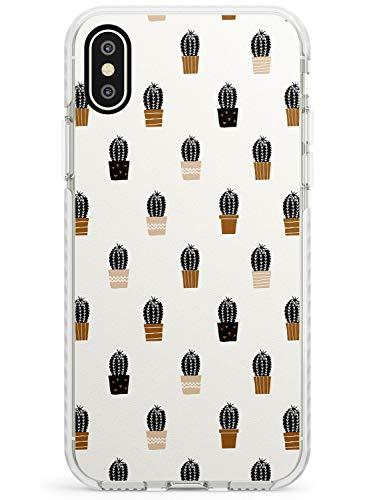 Case Warehouse Patrón de Cactus en la Crema Impact Funda para iPhone XR TPU Protector Ligero Phone Protectora con Botánico Plantas Cactus De Boho Dibujado
