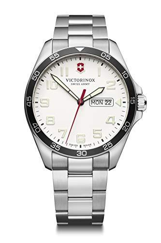 Victorinox Hombre Field Force - Reloj de Acero Inoxidable de Cuarzo analógico de fabricación Suiza con día/Fecha 241850