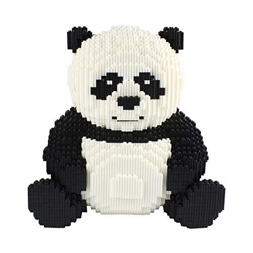 Larcele 7812 Piezas Panda Bloques de Construcción Animal Construyendo Ladrillos de Juguete KLJM-02 (Panda,Modelo 2843)