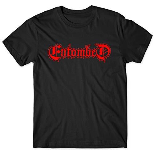 LaMAGLIERIA Herren-T-Shirt - Entombed T-Shirt Rock Metal 100% Baumwollee, XL, Schwarz
