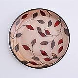 Piatti Ciotoline Da Snack Piatto da pranzo rotondo in ceramica floreale Smalto per pittura a mano Piatto di porcellana Bistecca occidentale Vassoio di frutta Colazione Dessert Torta Noci Piatti