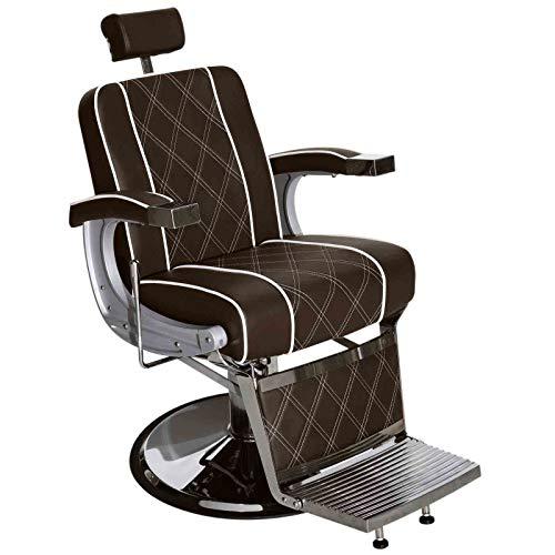 BarberPub 3810BR - Sedia idraulica da parrucchiere, colore: Marrone