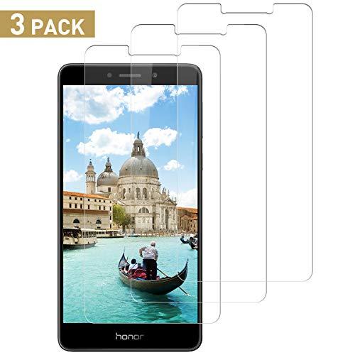 Schutzfolie für Huawei Honor 6X Panzerglas, [9H Festigkeit][3D Anti-Kratzen][Blasenfrei Transparent] Bildschirmschutzfolie, Anti-Fingerabdruck, Huawei Honor 6X Panzerglasfolie [3 Stück][Einfache Installation]