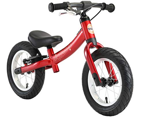 BIKESTAR Running Balance Bike con sidestand y Freno para niños de 3...