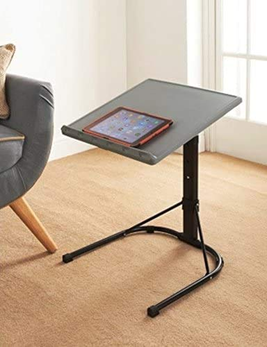 A2Z Home Solutions Best Choice Spaceways Adjustable Table Laptop Desk - Grey & Black