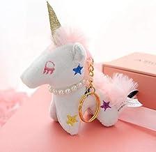 WYBL Bonita Mosca alada Unicornio puntal Llavero muñeca Colgante Relleno Animal Mini Suave Peluche Juguete niños Regalo