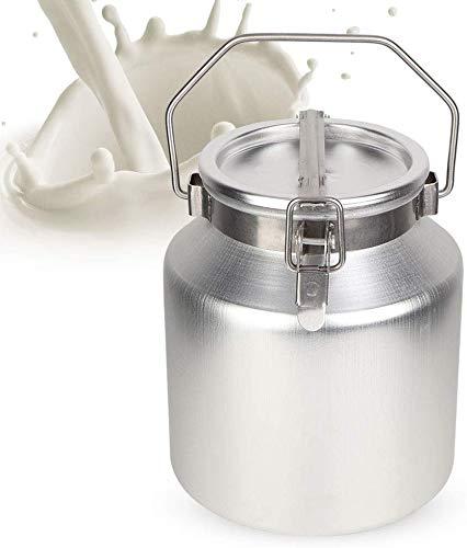 Sheens 5L Edelstahl Milchkanne, Aluminiumlegierungs Milch kann Krug mit Siegeldeckel transportablem Milchgärungs Fass einschließen