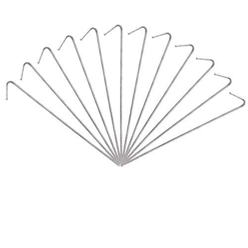 Trintion Zeltheringe 50 Stück 20Cm Zelthaken Stahl Heringe Erdnägel Für Zelt Aluminium Zeltheringe Für Harte Böden Garten Stakes Nägel Ideal Für Camping Outdoor Netting Plane Zeltnägel