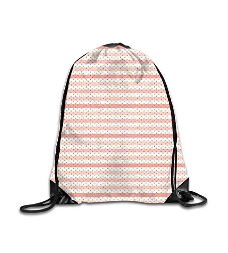 huatongxin Customized backpack Pink White Horizontal Crooked Stripes Grape Seed Inspired Drops Pink White Amber Fitness beam backpack, sports backpack, school bag