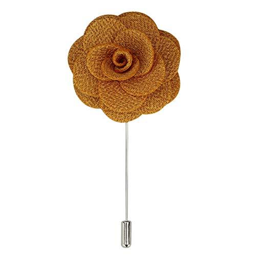 Xposed Fiesta de la boda Traje Rose Pin de la solapa de la tela de la broche de ramillete de flores hombres de 10 colores en caja de regalo Reino Unido [LAPELPIN-9]