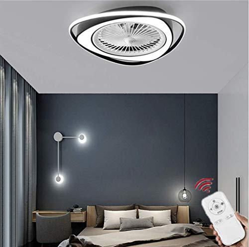 HZJ Ventilador De Techo con Luz, Ventilador Invisible Creativo Luz De Techo LED Control Remoto Regulable Lámpara De Araña Ultra Silenciosa