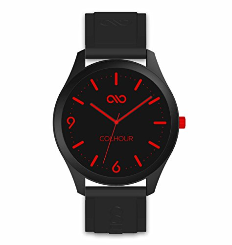 Colhour watches–Orologio da polso unisex con cinturino in silicone, qualità premium, progettato e realizzato in Spagna e con meccanismo giapponese Miyota by Citizen rosso