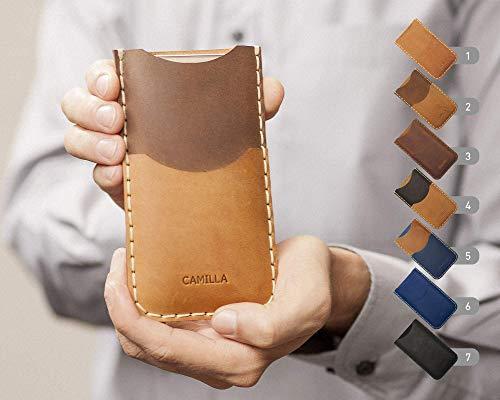 Cover per Pixel 4 3 2 XL Google Nexus 6P 6 5X 5 personalizzata portafogli con taschino per carta di credito pelle bovina cover in pelle portacellulare con monogramma del tuo nome o iniziali