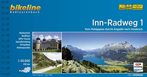 Inn-Radweg / Inn-Radweg 1: Vom Malojapass durchs Engadin nach Innsbruck, 1:50.000, 230 km