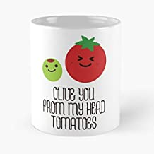 Olive You From My Head Tomatoes Classic Mug - 11 Oz Coffee Mugs Ceramic,the Best Gift For Holidays.