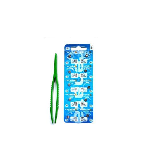 Preisvergleich Produktbild 337 SR416SW 10 Batterien Tasten Renata