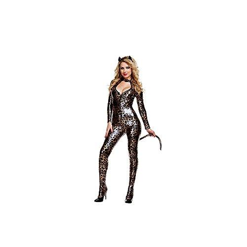 Starline Women's Wildcat Sexy 3 Piece Bodysuit Costume Set - Brown - Mediu