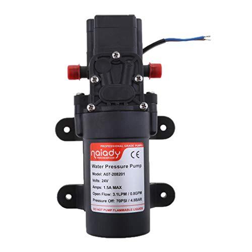 P Prettyia Bomba de Diafragma de Presión de La Bomba de Agua 24V para Los Yates Marinos de RV